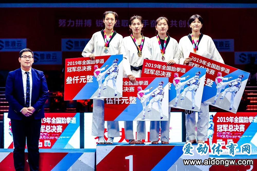 海南运动员高盼夺金 2019年全国跆拳道冠军总决赛无锡收官