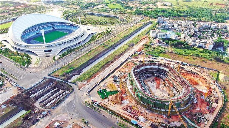 五源河文体中心(二期)体育馆预计明年12月底竣工,可承办国际赛事和大型文艺演出