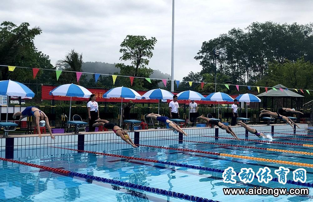 2020年海南省少年游泳锦标赛白沙开赛 205名选手泳池争锋