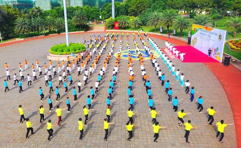 2020年biwei必威体育备用网站省社会体育指导员环岛公益健康行活动(五指山站)收官