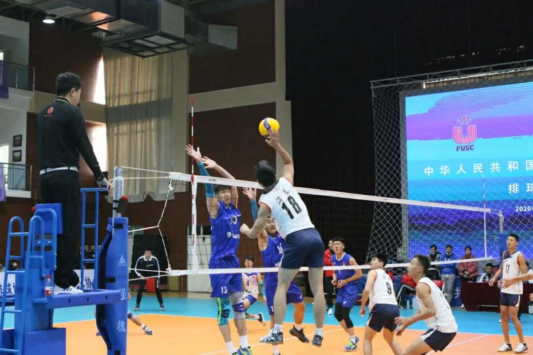 海师大代表海南出战全国学生运动会排球预赛,击败内蒙古队取得开门红
