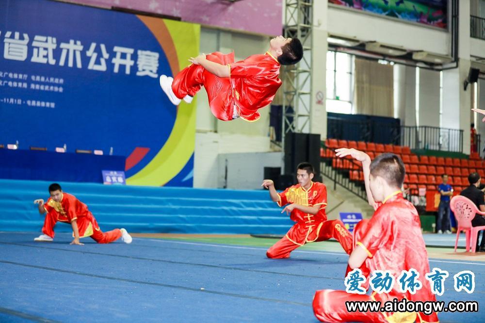 2020年biwei必威体育备用网站省武术公开赛屯昌开赛 数百名选手同台竞技