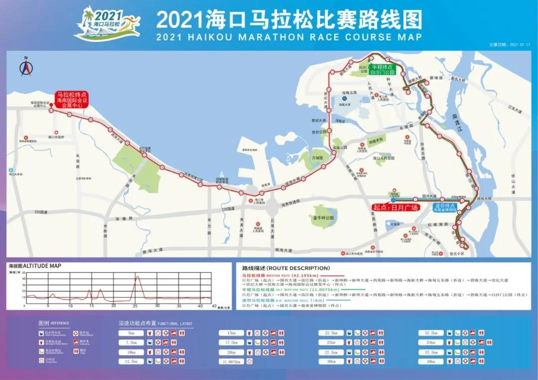 2021海口马拉松赛路线图公布!快看是否经过你家→