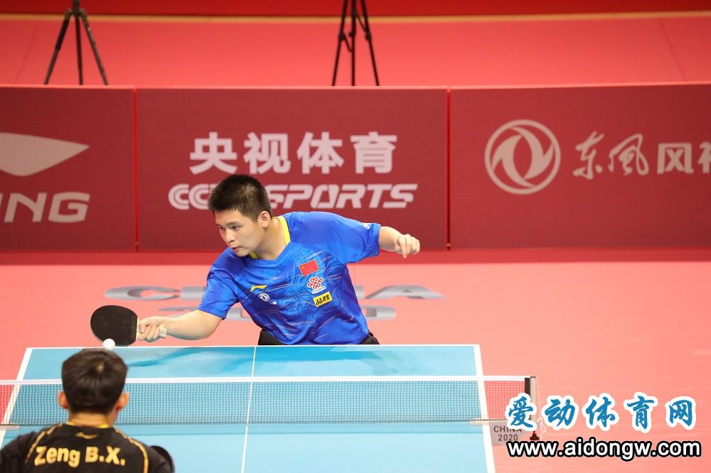 喜讯!海南乒乓球小将林诗栋勇夺全运会正赛门票