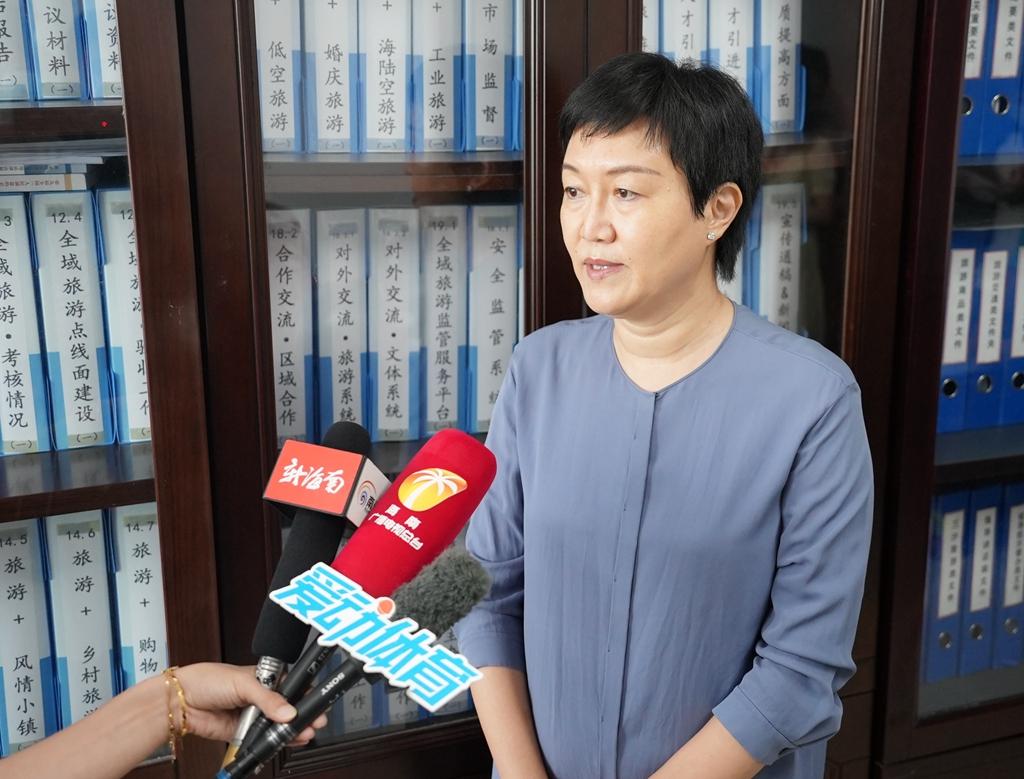 孙颖:打造海南冬训天堂,推动国家体育旅游示范区建设