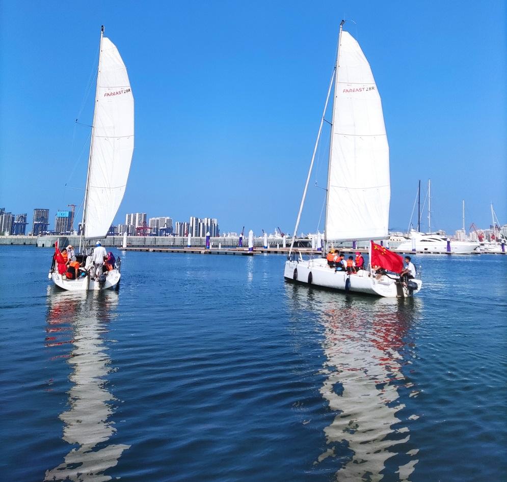 免费体验帆船!国庆来海口乘风破浪吧